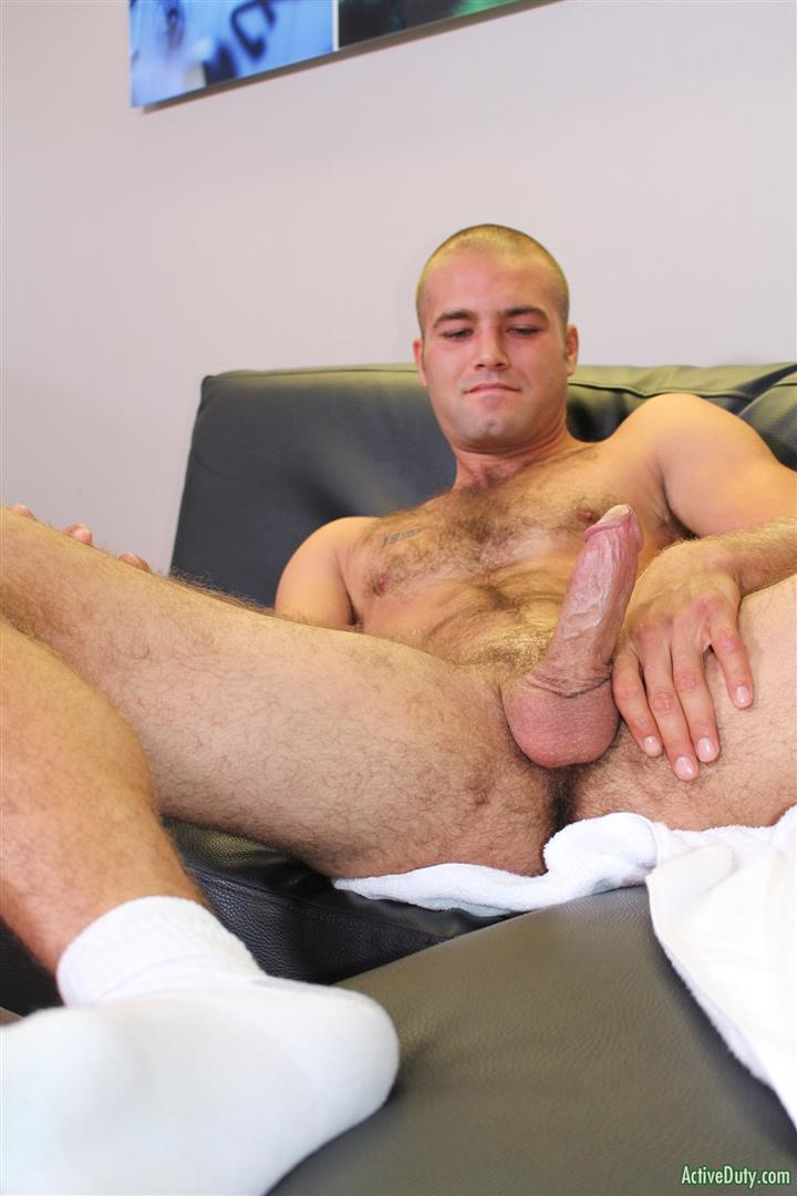 Active-Duty-Sean-Naked-Army-Soldier-With-A-Thick-Cock-Amateur-Gay-Porn-09 27 Year Old Straight Army Soldier Jerks His Big Thick Cock