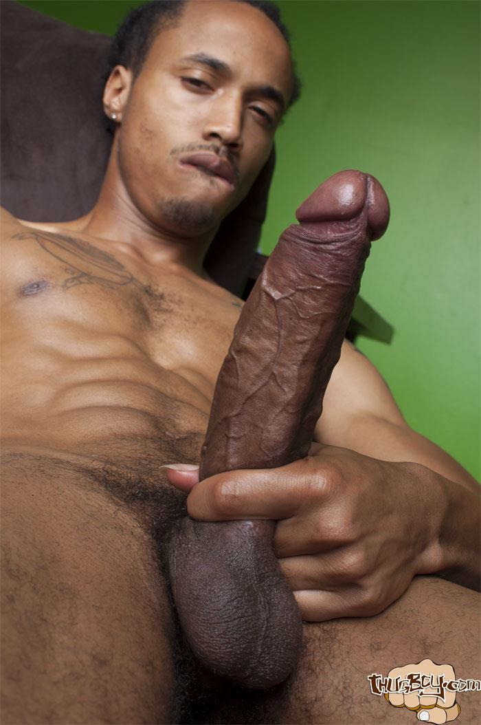 Thug-Boy-Cali-Bandz-Big-Black-Uncut-Cock-Jerk-Off-Amateur-Gay-Porn-53 Thug Boy:  Straight Ghetto Thug Strokes His Big Black Uncut Cock