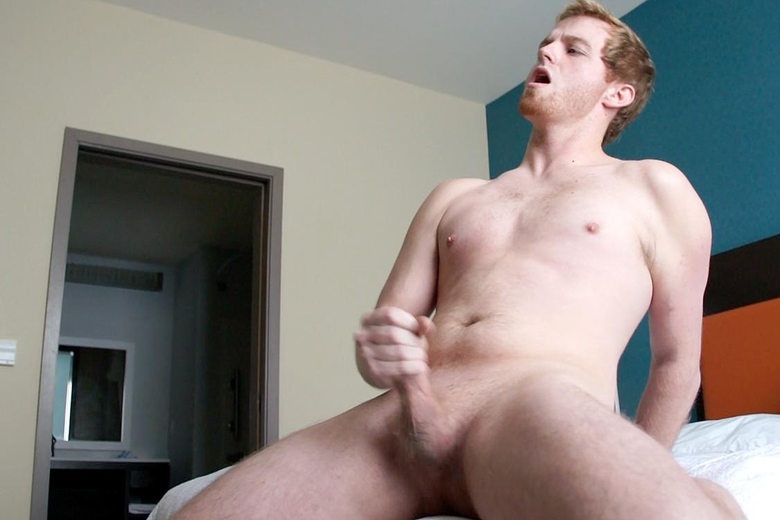 White Guy Jerking Off Solo