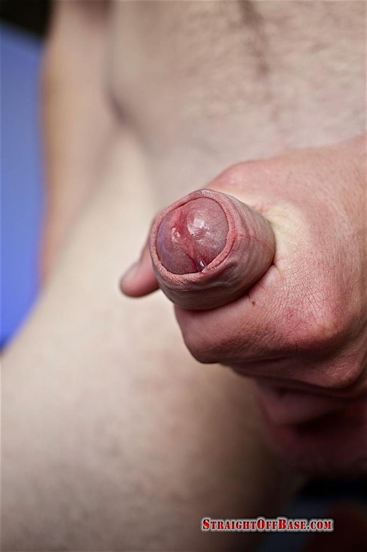 Straight Off Base Aamon Naked Marine With A Big Uncut Cock 11 Irish American US Marine Naked And Stroking His Big Uncut Cock