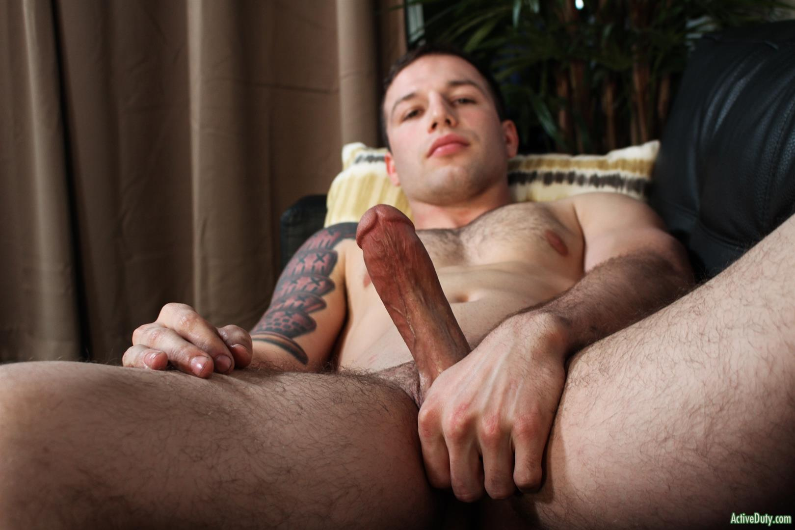 Active-Duty-Tim-Tank-Muscular-Marine-With-A-Thick-Cock-Jerk-Off-12 Muscular Straight Marine Jerking Off His Very Thick Dick