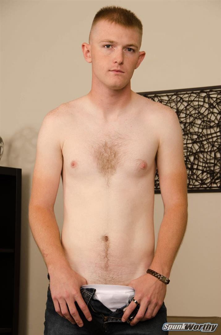 SpunkWorthy-Vance-Naked-Marine-With-A-Thick-Cock-Jerking-Off-02 Tall Straight Marine Jerks Off On Camera For The First Time